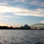 Sunset Opera House und Harbour Bridge