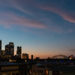Skyline kurz nach Sonnenuntergang