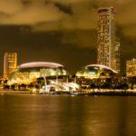 Marina Sands Bay bei Nacht
