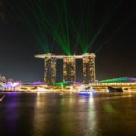 Marina Sands Bay Hotel in der Nacht